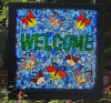 Outdoor Garden Welcome Sign