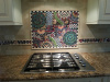 A custom mosaic backsplash